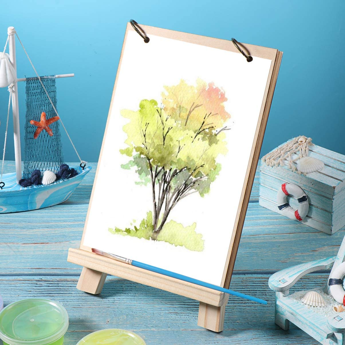 15x20cm TOYANDONA 1PC Painting Easel Display Stand Tabletop Photo Stand Natural Wood Photo A-Frame Painting Easel for Kids Students Artist Painting