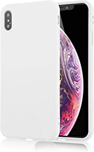for iPhone Xs Max White Case, technext020 Shockproof Ultra Slim Fit Silicone iPhone 10S Max Cover TPU Soft Gel Rubber Cover Shock Resistance Protective Back Bumper for Apple iPhone Xs Max White
