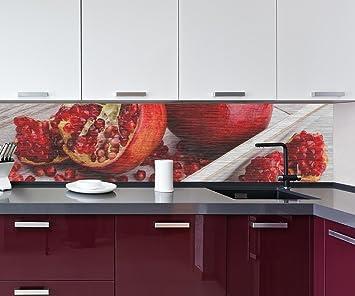 Cocina Pared Trasera Frutas Rojas de la Granada Design M1063 260 x 60 cm (W x ...