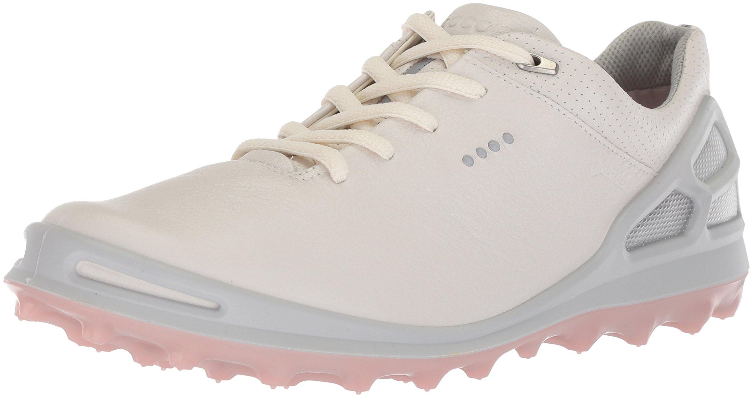 ECCO Women's Cage Pro Gore-Tex Golf Shoe, White/Silver Pink, 8 M US by ECCO