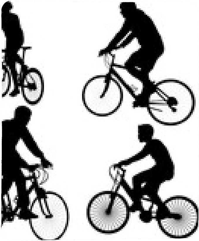alfombrilla de ratón siluetas de los ciclistas - vector: Amazon.es ...