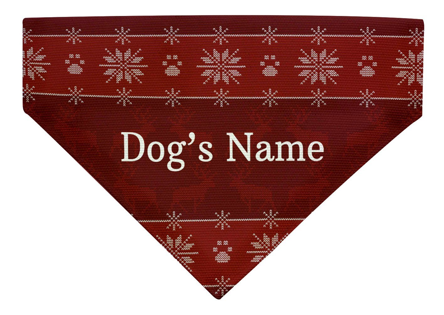 Personalized Gifts Dog Gift Custom Text Dog Ugly Christmas Sweater for Dog Large Dog Bandana Custom Scarf for Dogs Red