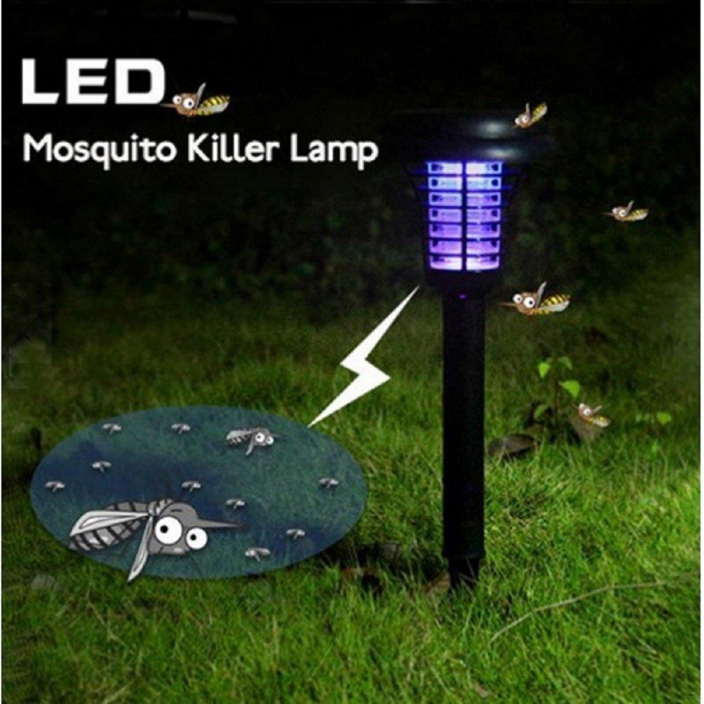 Svitlife 3pcs Solar Power Decorative LED Mosquito Killer Lamp Black