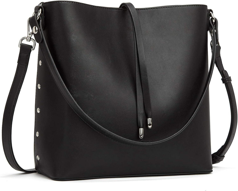 Ladies Stylish Fx Leather Zip Bag and Purse Shoulder Bag Bucket Handbag Designer