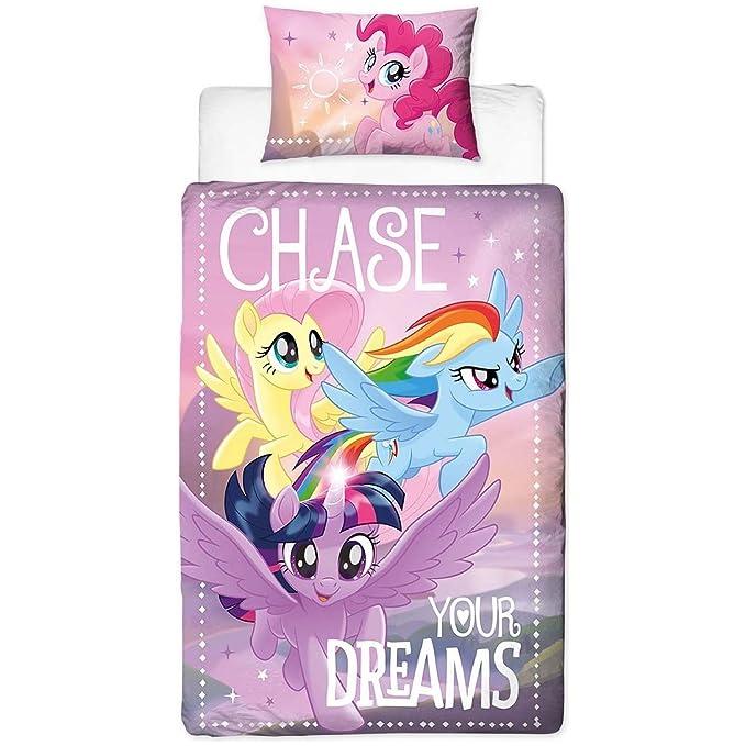 Copripiumino My Little Pony.My Little Pony Motivo Chase Your Dreams Per Letto Singolo Set Con