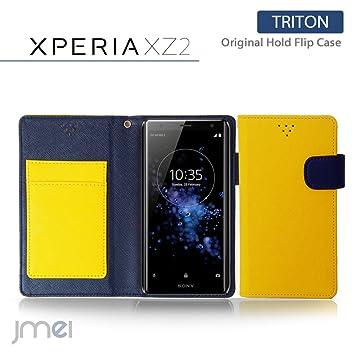 10d8e250bc Xperia XZ2 ケース SO-03K SOV37 手帳型 エクスペリア xz2 カバー ブランド 手帳 閉じた