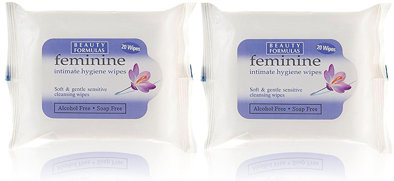 Feminine Intimate Hygiene Soft & Gentle Soap Free Wipes Two Pack Beauty Formulas