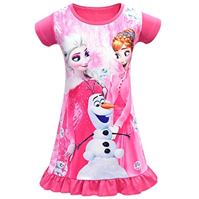 ocarseii Toddler Nightgown Dress Sleep Shirts Nightgown Princess Dresses for Girls: Clothing