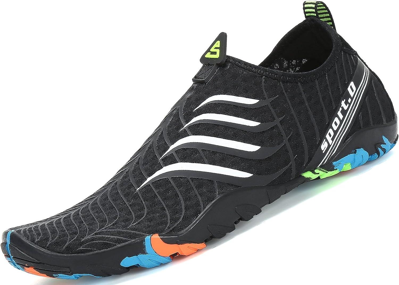 Zapatos de Agua para Buceo Snorkel Surf Piscina Playa Vela Mar Río Aqua Cycling Deportes Acuáticos Calzado de Natación Escarpines para Hombre Mujer: Amazon.es: Zapatos y complementos