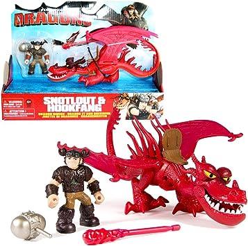 Reiter Rotzbakke /& Drache HakenzahnDreamWorks DragonsAction Spiel Set