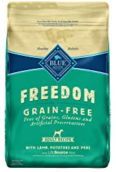 Blue Buffalo Freedom Grain-Free Recipe for Dog, Adult Lamb Recipe Large Breed Grain Free