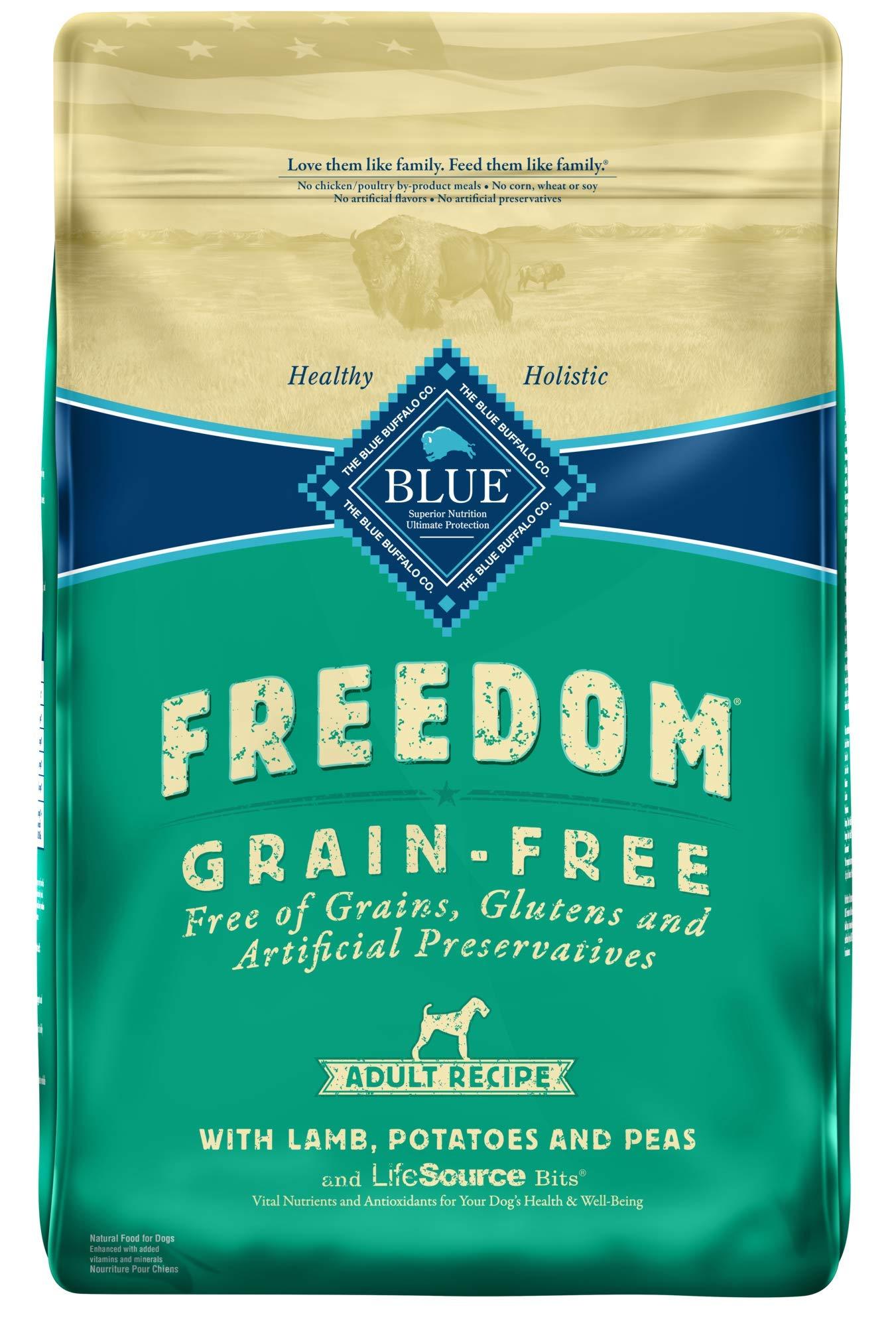 Blue Buffalo Freedom Grain Free Recipe for Dog, Lamb Recipe, 24 lb by Blue Buffalo