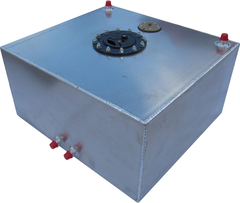 Natural Aluminum Color RCI 2151AS Aluminum Fuel Cell with Sending Unit 18L x 20W x 10H 15 Gallon
