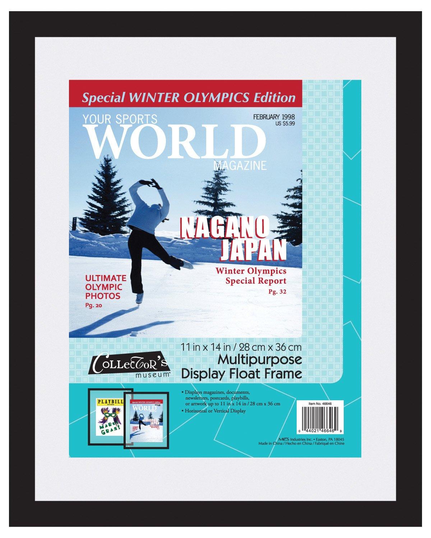Amazon.com: MCS 11x14 Inch Magazine Display Float Frame, Black ...