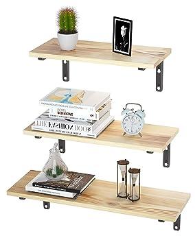 EKNITEY 3-Shelf Floating Shelves