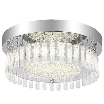 timeless design 2b7f7 56430 AUDIAN Dimmable LED Flush Mount Ceiling Light Fixture Ceiling Bathroom  Crystal Ceiling Lamp Kitchen Light Fixtures Gorgeous Chandelier Smart  Lighting ...