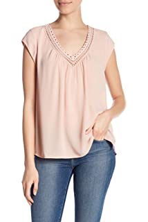 7a3f9222485cf2 DR2 by Daniel Rainn women's V-Neck Woven Blouse ANTIQUE IV at Amazon ...