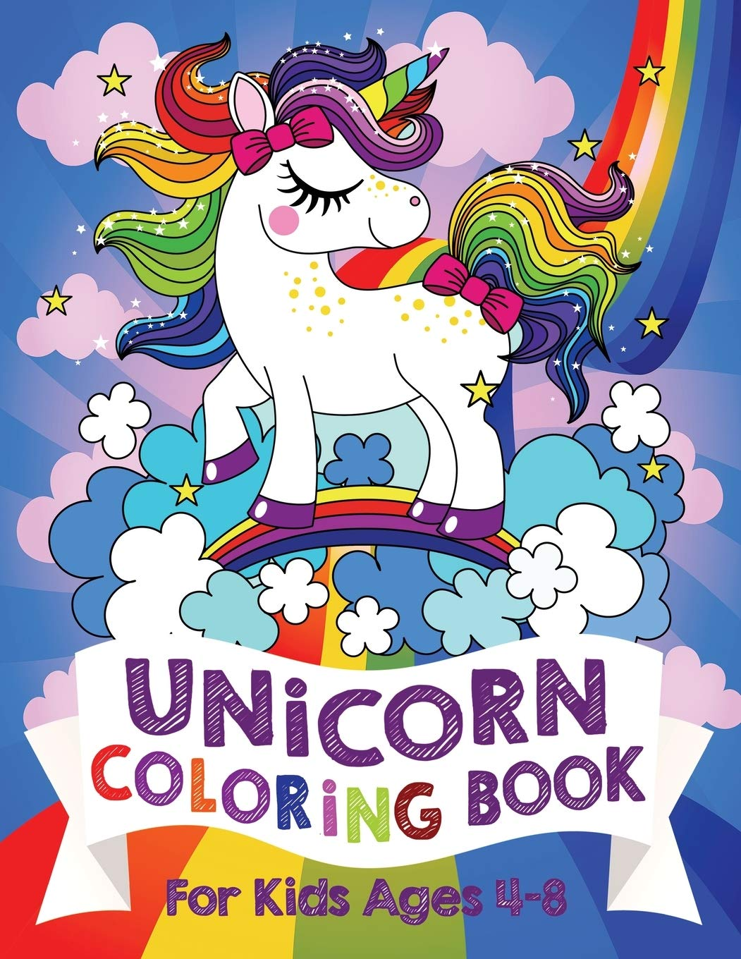 Unicorn Coloring Book For Kids Ages 4 8 Us Edition Silly Bear Coloring Books Bear Silly 9781999896966 Amazon Com Books