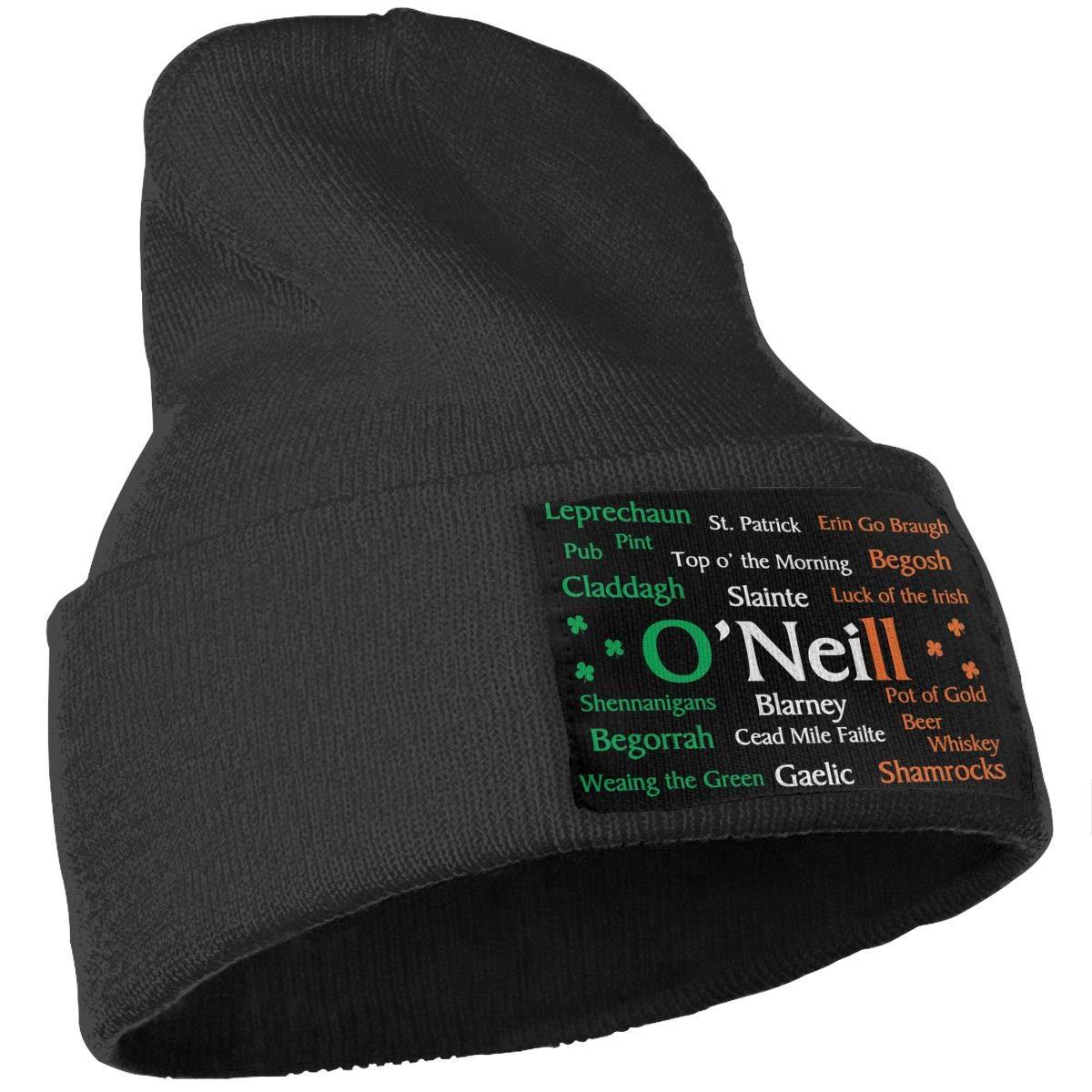 QZqDQ Oneill Irish Pride Unisex Fashion Knitted Hat Luxury Hip-Hop Cap