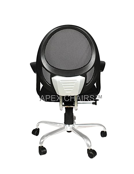 668e5394f APEX CHAIRS™ Oracle Chrome Medium Back Office Chair  Amazon.in  Electronics