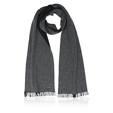 8f0904f706ed BOSS Hugo Echarpe - Homme - noir -  Amazon.fr  Vêtements et accessoires