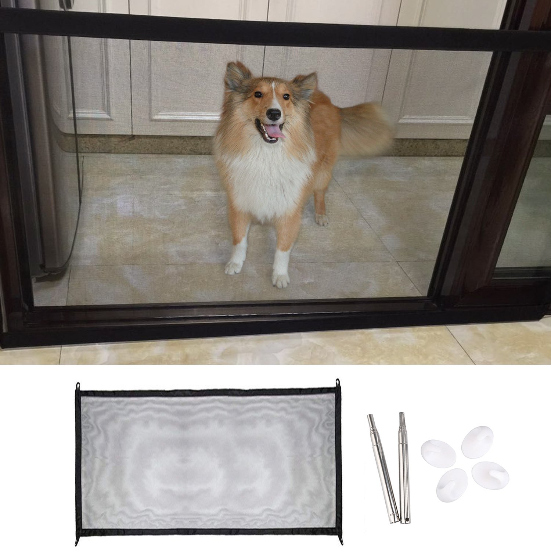 Amazon Com Unime Magic Gate For Dog Pet Dog Retractable
