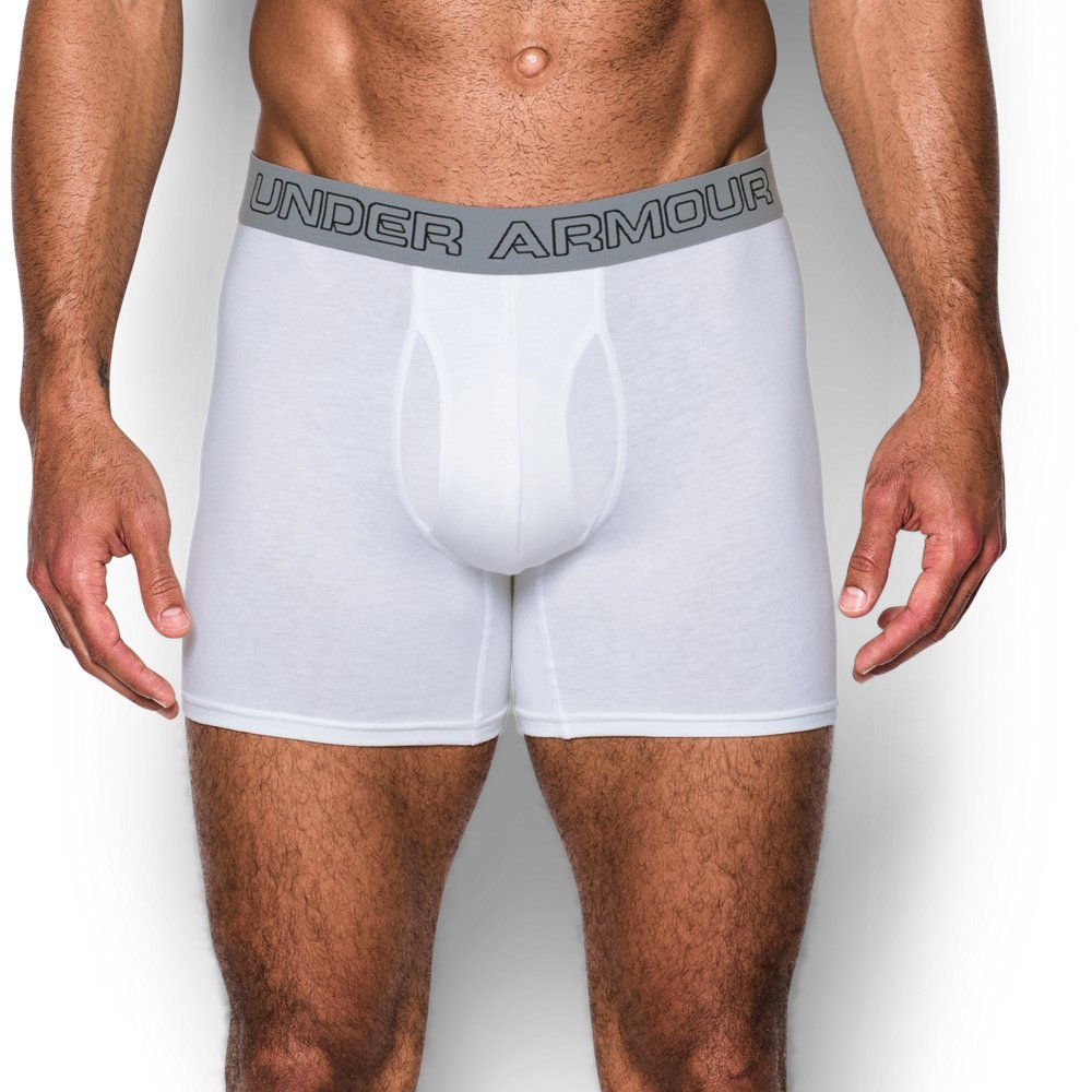 Under Armour Charged Cotton Stretch 6'' Boxerjock - 3-Pack XXX-Large White by Under Armour