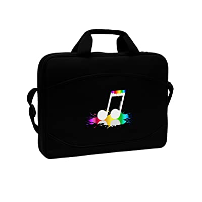 "70%OFF TooLoud Paint Music Note 15"" Dark Laptop / Tablet Case Bag"