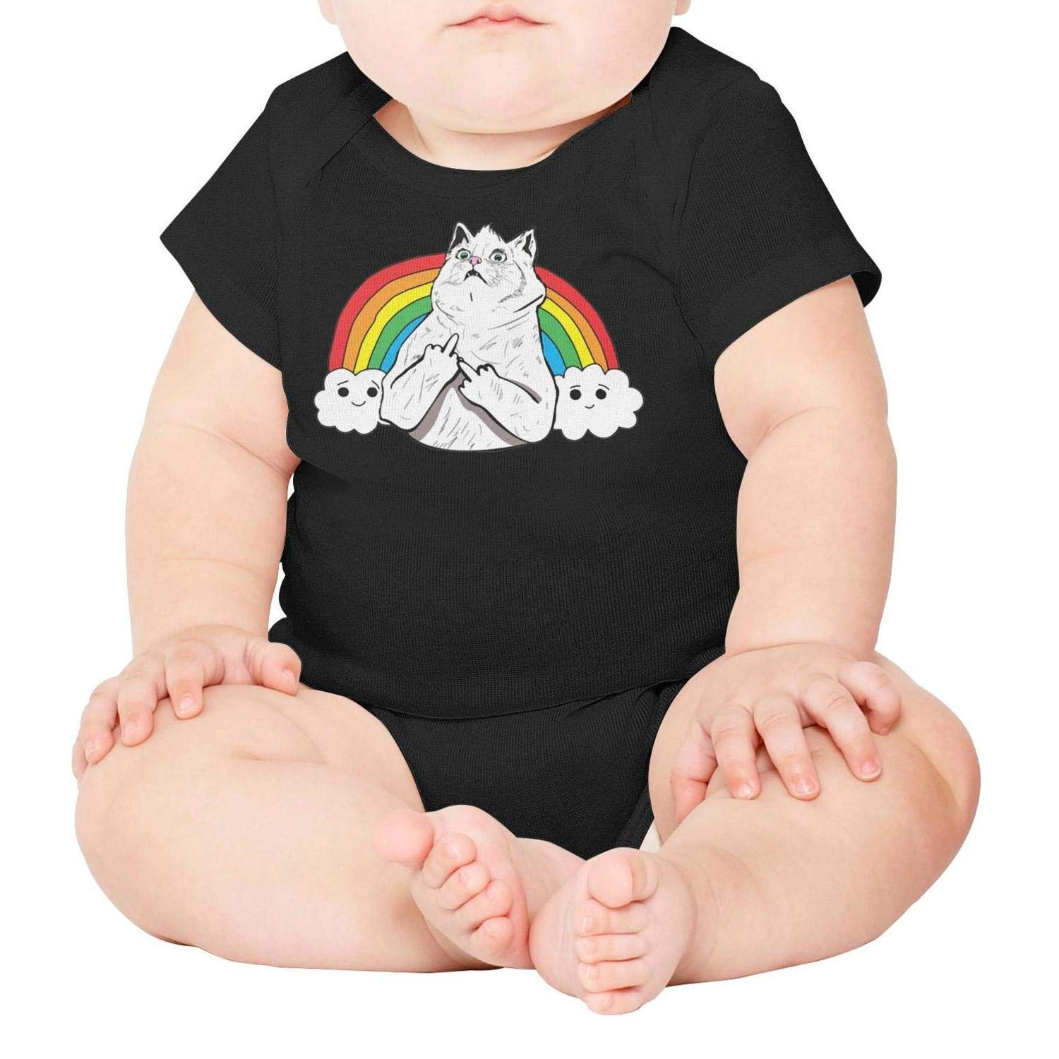 Rawr Pride Parade Gay /& Lesbian Rainbow Flag Baby Onesie Outfits Mesh One-Piece Cotton Short Sleeve