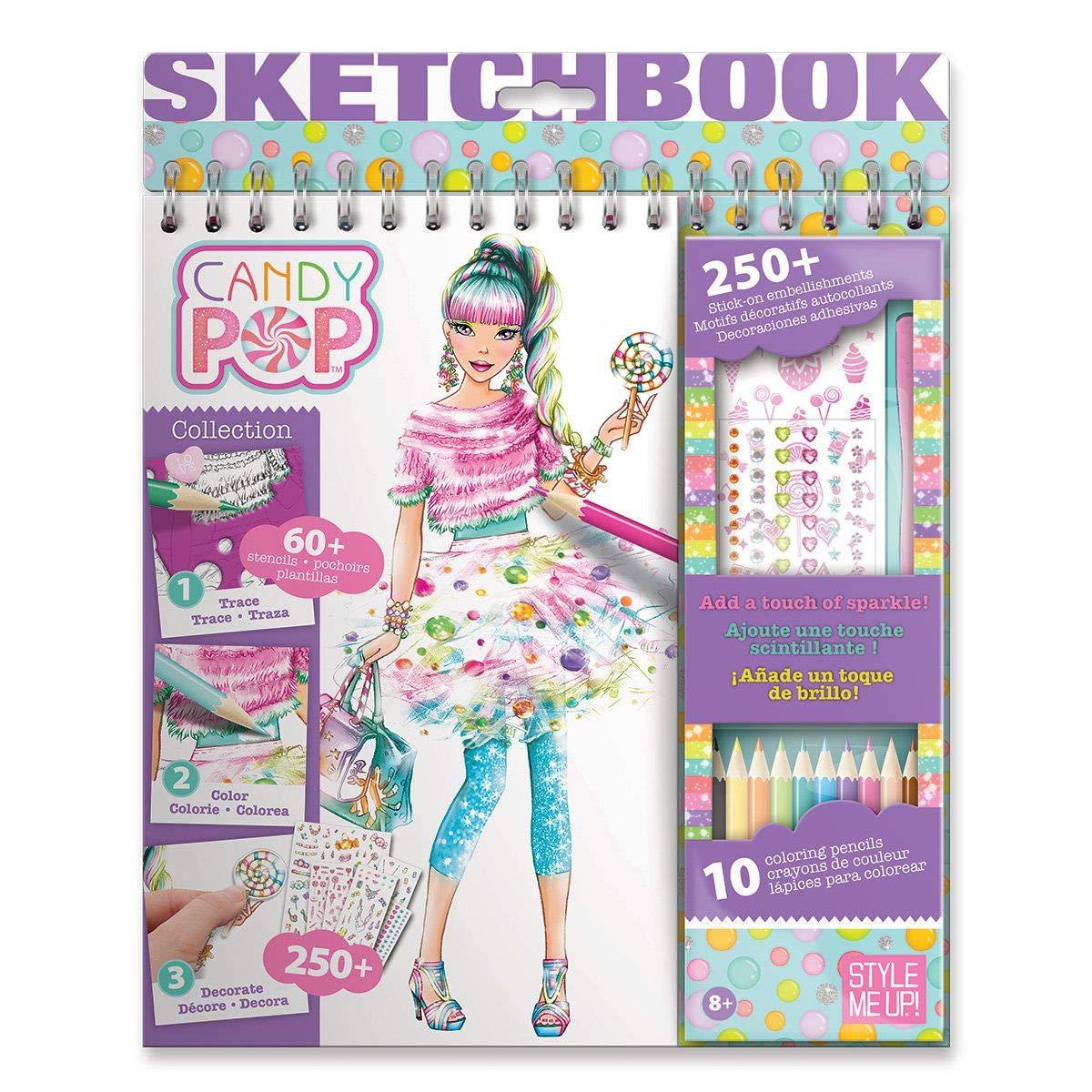 SMU-1424 Livre De Dessins Pour Filles Avec Crayons De Couleurs Style Me Up Pour Colorier Et Cr/éer De Nouveaux Looks sur Papier Kraft