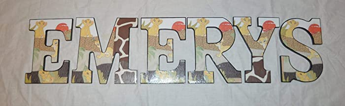 Baby Lion King Inspired Wooden Letters