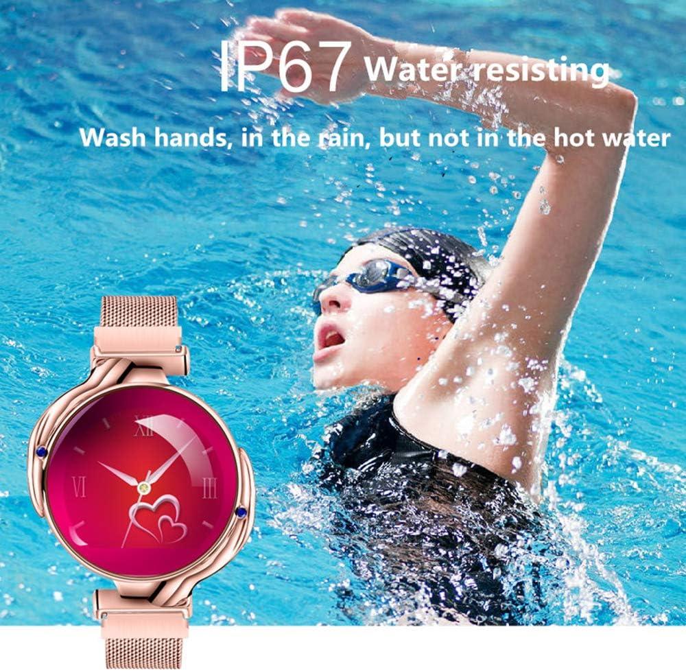 Benkeg Femmes Montre Intelligente -Z38 1.04in écran TFT Montre-Bracelet BT 4.0 Sport Bracelet-Pression artérielle, Moniteur de fréquence Cardiaque, Surveillance du Sommeil, podomètre Or