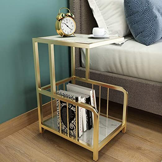 Duo Marble Sofa Side C-Table Metal Base Accent Table Esquinas Mesa ...