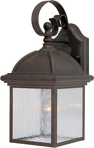Progress Lighting P6043-20 Restoration One Light Wall Lantern from Botta Collection Dark Finish, Antique Bronze