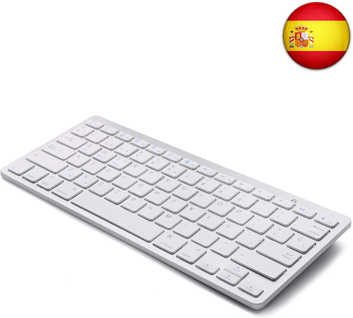 Tableta Teclado Bluetooth, Boriyuan Teclado inalámbrico en español para Mac iPad iPhone iOS Android Windows Smart TV: Amazon.es: Electrónica