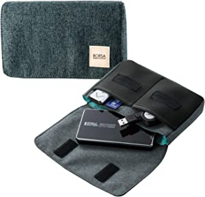 エレコム ポーチ バッグインバッグ アクセサリ/ガジェット収納 フラップタイプ コンパクト Mサイズ ブラック BMA-GP05BK