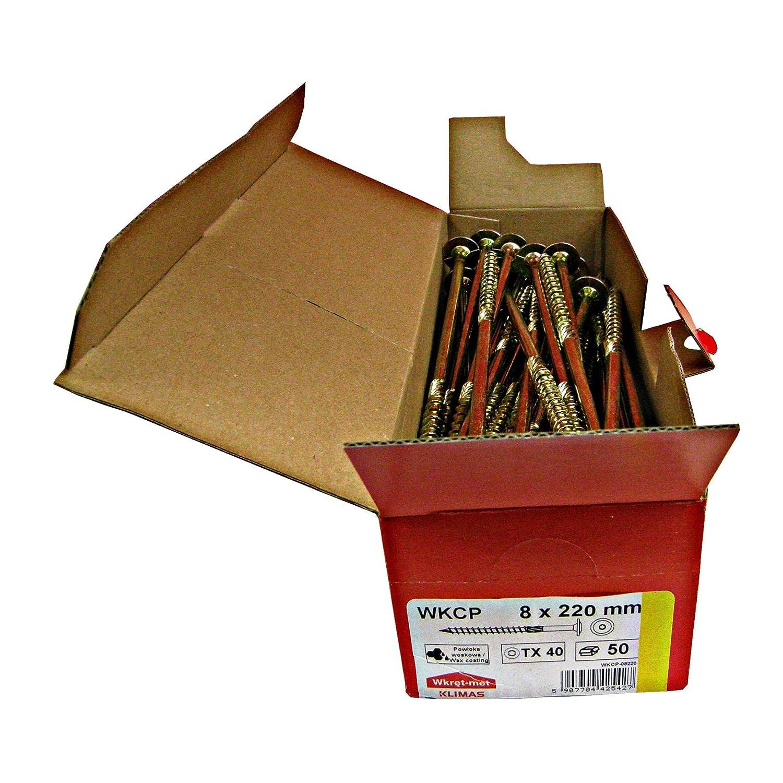 Tellerkopfschrauben Holzbauschrauben alle Gr/ö/ßen Tellerkopf Torx Schrauben 50St/ück 6x90mm TX30
