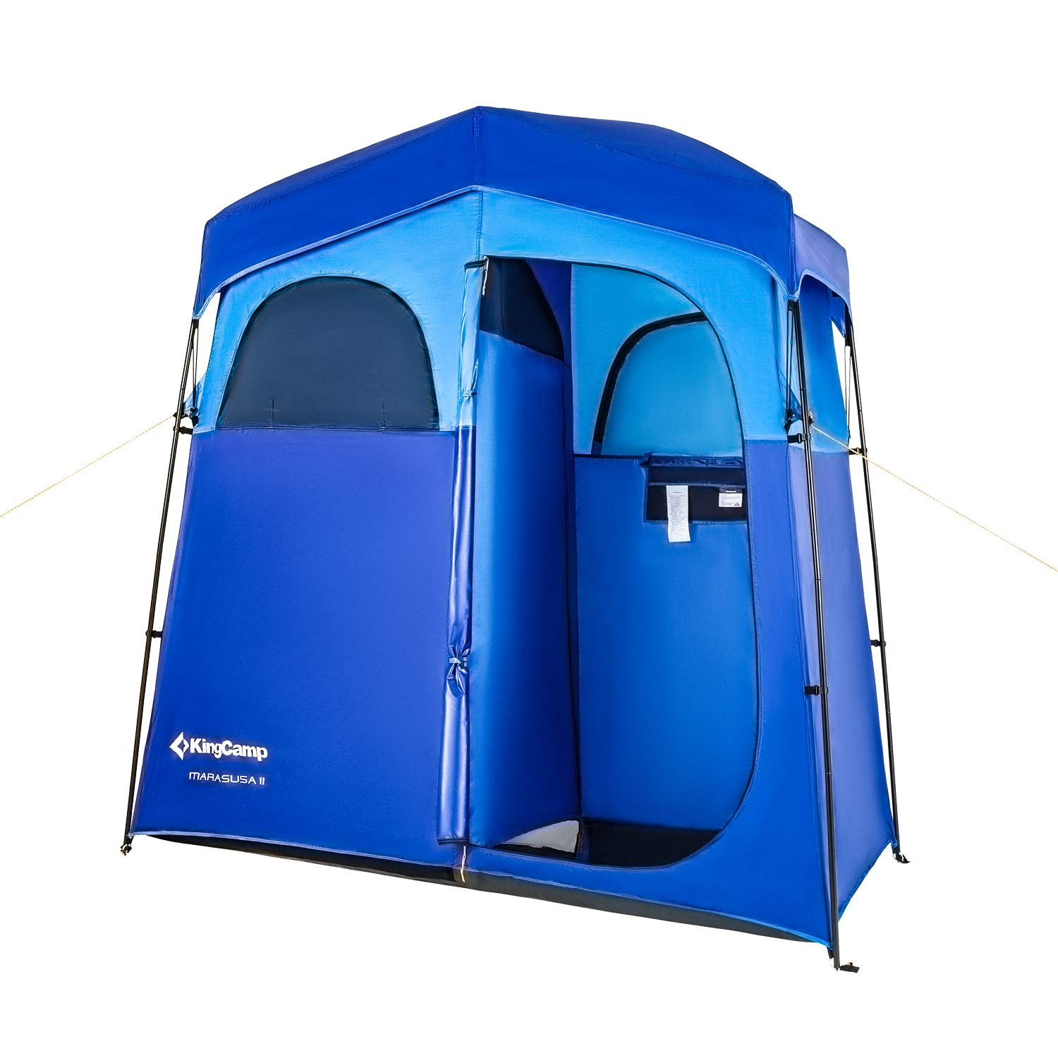 KingCamp 2-Room Easy Up Portable Dressing Changing Room Shower Privacy Shelter Tent with Rain Fly by KingCamp