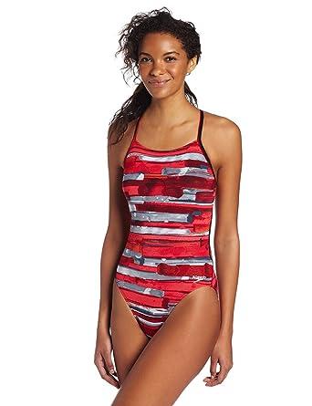 Speedo Womens Color Stroke Cross Back Endurance Swimsuit, Red, ...