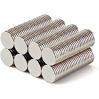 Yizhet 50 Piezas Imanes de Nevera de Cilindro de neodimio 8mm x 1mm Imanes de Disco de Tierra RARA para artesanías…