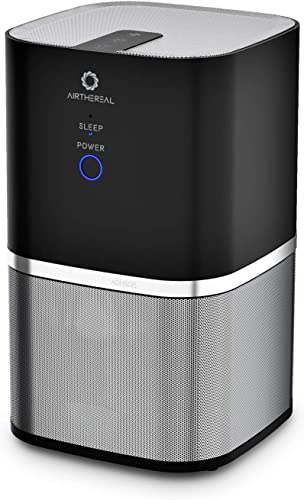 Airthereal Air Purifier with 7-in-1 True HEPA Filter for Small Room, Bedroom, and Office Whisper Quiet-Day Dawning, 6.3 x 6.3 x 10.2 in, Black