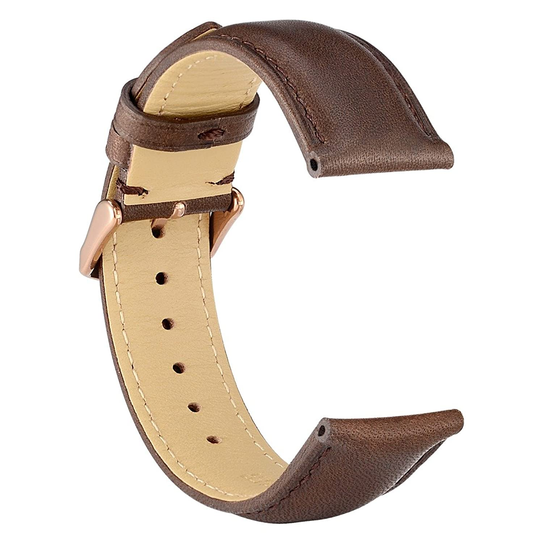 WOCCI - Correa de reloj para hombre o mujer, de piel de caimán, 22 mm, 21 mm, 20 mm, 19 mm, 18 mm
