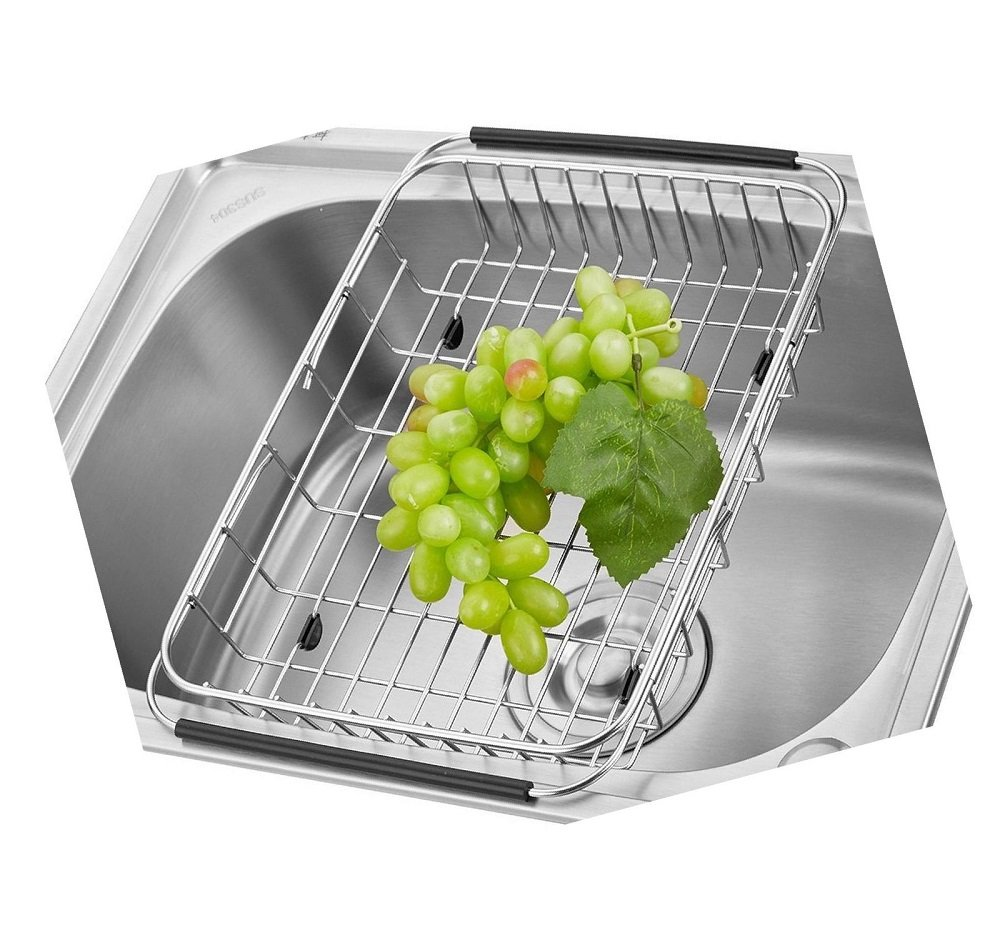 Tari_Kitchen The Sink Dish Drainer Dish Drying Rack Stainless Steel by Tari_Kitchen