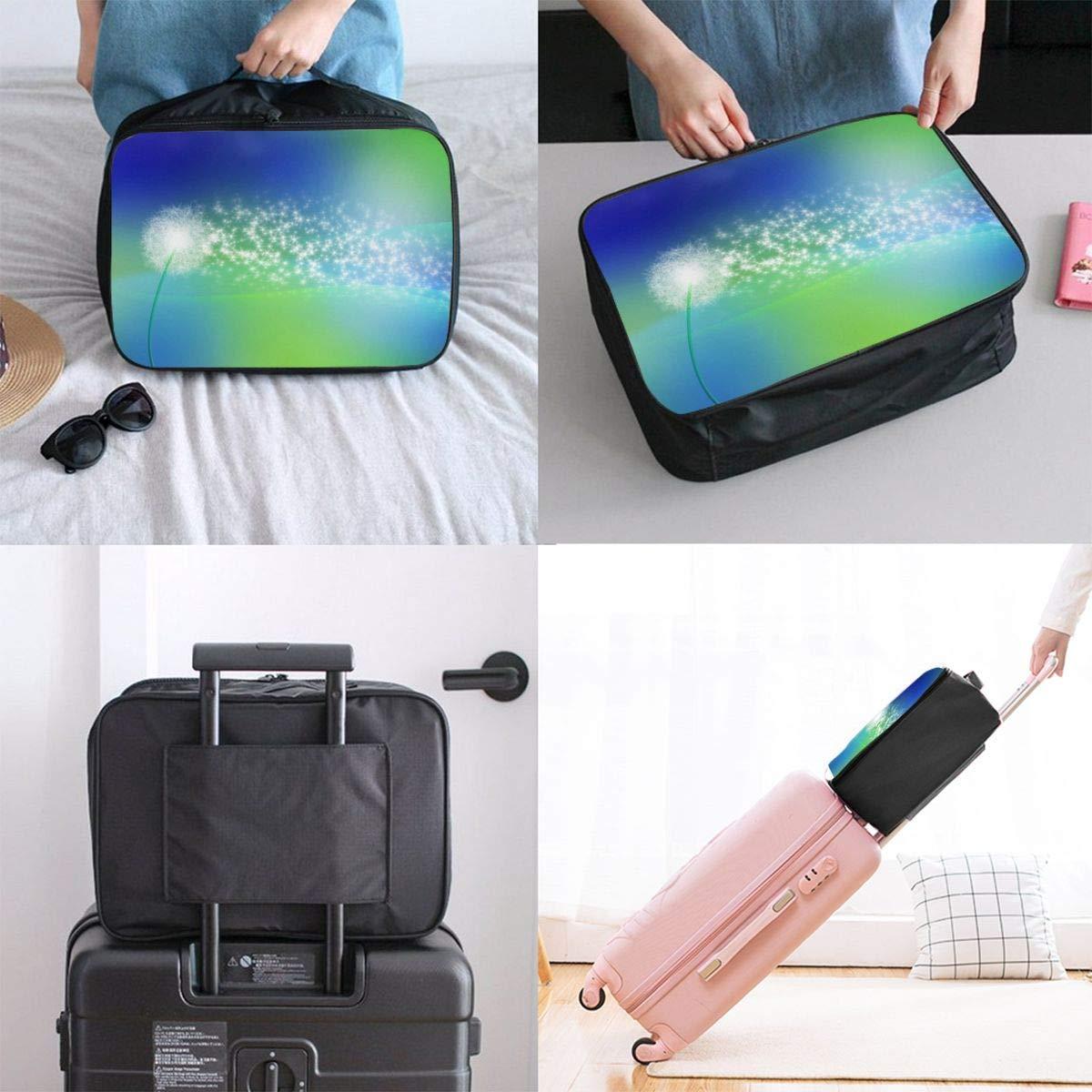 JTRVW Luggage Bags for Travel Lightweight Large Capacity Portable Duffel Bag for Men /& Women White Dandelion Travel Duffel Bag Backpack