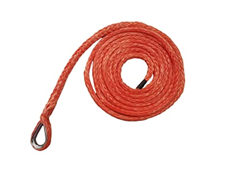 """Red 3//16/""""*10ft Synthetic Snow Plow Lift Rope,ATV Winch Rope,Synthetic Rope Cable"""