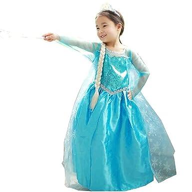 Traje de Carnaval vestido congelado vestido de niña Bimba childen Azul 808 (110 - 2
