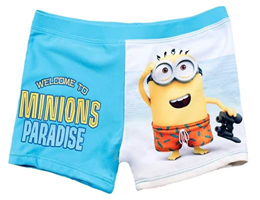 03f013336f Image Unavailable. Image not available for. Colour: MINIONS Boys' Swimming  Shorts ...