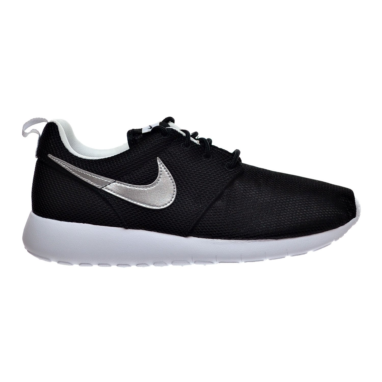 Nike Roshe Run 599729, Mauml;dchen Laufschuhe Training  23 EU|Black/Metallic Silver/White