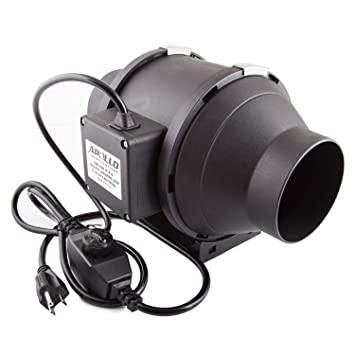 Amazon apollo horticulture 4 inch 190 cfm inline duct fan apollo horticulture 4quot inch 190 cfm inline duct fan with built in variable speed controller solutioingenieria Choice Image