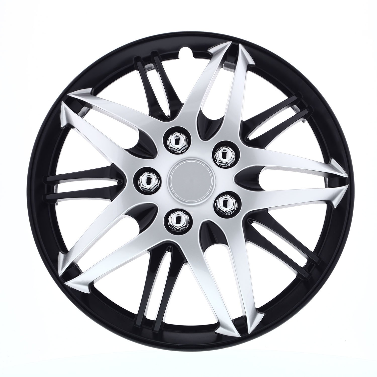 Pilot Automotive WH544-16C-BLZ Silver w//Black 16-Inch Wheel Cover